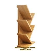 kệ sách gỗ thông