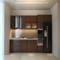 tủ bếp gỗ xoan tự nhiên