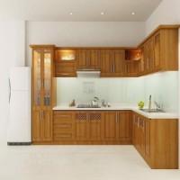 Tủ bếp chữ L mẫu 2