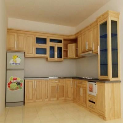 Tủ bếp gỗ tự nhiên chất lượng cao