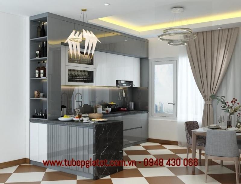 cung cấp tủ bếp gỗ công nghiệp tại tphcm