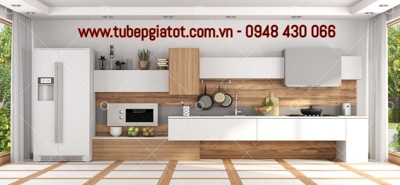 mẫu tủ bếp gỗ rẻ đẹp